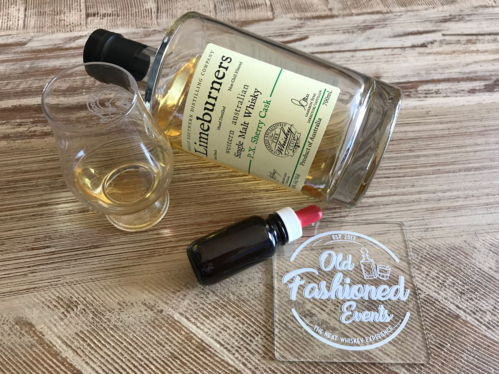 old fashioned events limeburners px sherry cask single malt whiskey